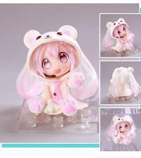 Q Version Hatsune Miku Snow Miku Nendoroid Polar Bear PVC Figure Anime Toy AU