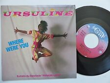 URSULINE Where were you Spectacle Paradis latin 801027  FRANCE Discotheque RTL