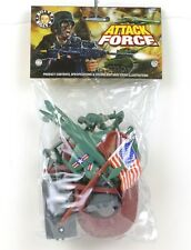 Billy V Toys Plastic Attack Force US Forces Airplanes Tanks Soldiers 41060A