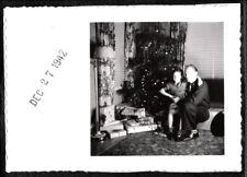 VINTAGE PHOTOGRAPH 1942 CHRISTMAS TREE ORNAMENTS GIFTS STOCKTON CALIFORNIA PHOTO
