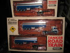 1 64 Highway Replicas 12009 Kenworth K100 Truck Tanker Road Train Silver Blue