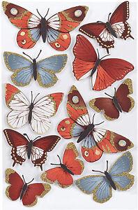 Elegant Nature Metallic Butterfly Stickers EK SUCCESS Martha Stewart Crafts NEW