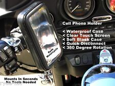 Motorcycle Handlebar Mount - Samsung S3 S4 Cell Phone Holder -Touch Screen Case