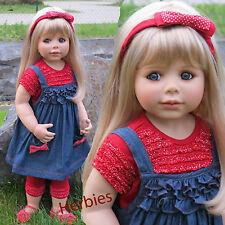 "Masterpiece Dolls Ann Blonde, Brown Eyes, 32"" Monika Peter-Leight"" Vinyl Doll"