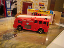 Matchbox  MB35 MERRY WEATHER FIRE TRUCK  Superfast Lesney England Mint Boxed