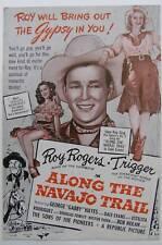 Along the Navajo Trail, Roy Rogers, Pressbook, 1945