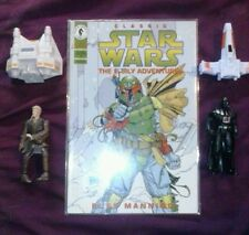 star wars 2 action figures comic book and toy lot xwing snowspeeder anakin vader