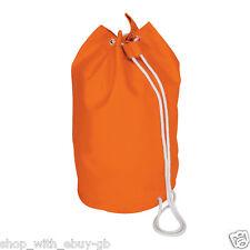 Cotton Canvas Drawstring Duffel Sailor Rucksack School Travel Swim Bag Orange
