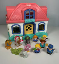 Fisher Price Little People Happy Sounds Sweet Home Doll House With 10 Figures