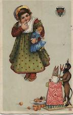 Ak - Deutscher Schulverein Nr.:  56,  Krampus, Nikolo, Kind, Puppe.