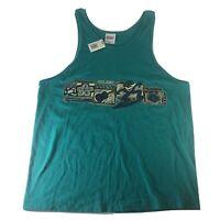 Hilo Hattie Maui Hawaiian Tank Top Hanes Heavyweight VTG Shirt Mens Large 42-44