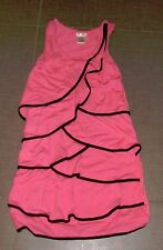 Sally Miller Couture pink black sleeveless girls dress NWOT occasion party L 12