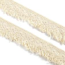 10m Encaje de Bolillo algodón Cinta Flecos costura proyecto Lace Ribbon Trim