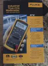 Fluke 87V Industrial True RMS Multimeter + Temp Temperature Probe Leads
