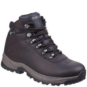 Men's HI-TEC  'Eurotrek Lite' Leather Waterproof Walking Boots - Size 9 (43)