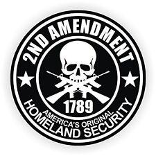 "2nd Amendment (3 Pack) Hard Hat Printed Sticker (size: 2"" color: Black/White)"