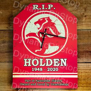 30cm x 40cm Holden Rustic Clock, Man Cave, Bar, Garage, Retro, Vintage