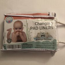 Brooklyn Bamboo Changing Pad Liners 3pk Soft,Hypoallergenic,Reusa ble,&for $13.60