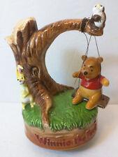 Disney Winnie The Pooh Swing Rabbit Owl Ceramic Musical Figurine