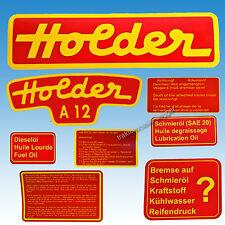 Aufkleber - Satz Holder A 12 8-teilig Traktor Schlepper 60135808