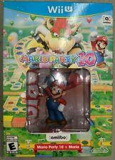 Nintendo Wii U Mario Party 10 + Amiibo Bundle |BRAND NEW SEALED