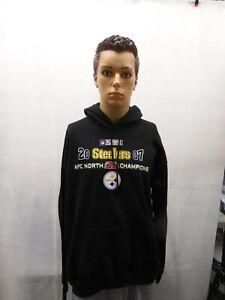 Pittsburgh Steelers 2007 AFC North Champions Hoodie NFL L VF Imagewear