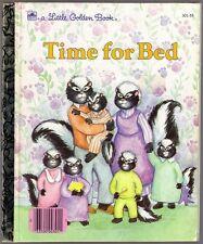Children's Little Golden Book TIME FOR BED Joan Elizabeth Goodman