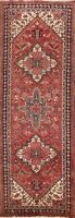 Geometric Traditional Heriz Hand-knotted Runner Rug Tribal Oriental 3x10 Carpet