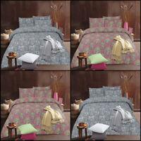 Paisley Print Bedding Duvet Cover Set Double Single Super King Size Pillow Cases