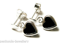 Sterling Silver Sapphire Heart Drop Earrings Gift boxed Made in UK