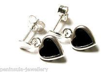 Sterling Silver Sapphire Heart Drop Earrings Gift boxed