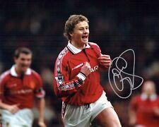 Ole Gunnar SOLSKJAER Signed Photo 2 AFTAL COA Manchester United Champions League