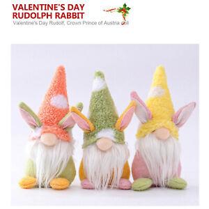 3PCS Easter Gnomes Plush Doll Gonk Dwarf Decoration Gifts Ornaments