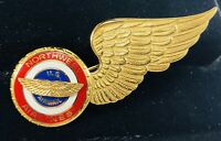 VTG 1960's ? Northwest Airlines Airmail Flight Attendant Pilot Wing Pin Airplane