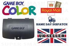 Nuevo Game Boy Color Gbc negro cubierta de batería de repuesto-Gameboy Color