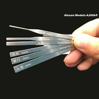 Stainless Steel Model Grinding Stick File Set Hobby Craft Tools Model Part 10in1