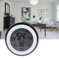 LCD Digital Indoor Thermometer Hygrometer Touchscreen Temperature Humidity Meter