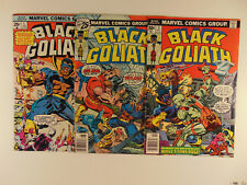 Black Goliath #1,3,5 (1976) low to mid grade see pics