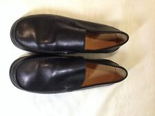Geox Respira Black Leather Loafers Size 35