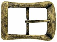 "Curved Square Single Prong Center Bar Belt Buckle 1-1/2"" (38mm) wide"