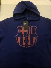 Nike FC Barcelona Mens Training Pull Over Hoodie Sweatshirt Top Size Large