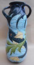 Majolica Vase Art Nouveau Wilhelm Schiller Bohemian Swimming Fish H 40cm