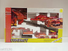 Fire Rescue 3 pc Set - Excavator, Helicopter, Fire Engine 1/50 - Joal #409 - MIB