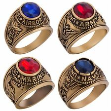 SZ 7-15 Gold Plated Retro Vintage United States Army Ring Navy Airforce Marines
