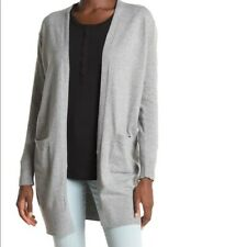Womens Sweet Romeo Light Heather Grey Long Cardigan Chic Neutral Color Sweater