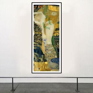 Gustav Klimt - Water Serpents I 1904 HD Print on Art Fabric Wall Decor Multisize