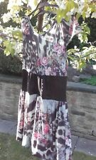 Critical Mass bodice style short polyester and elastane floral dress (10)