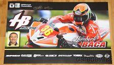 2015 Humberto Baca signed HB Racing Yamaha YZF-R6 Superstock MotoAmerica poster