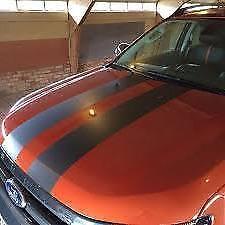 """CHARCOAL GREY Twin Body Stripes Viper Cobra 4m(13')x15cm(6"""") fits VOLVO / SAAB"""