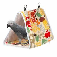 Hammock Bird Nest Warm Peony Thick Triangle Birdhouse Cage Tent Pet Soft Bed Toy